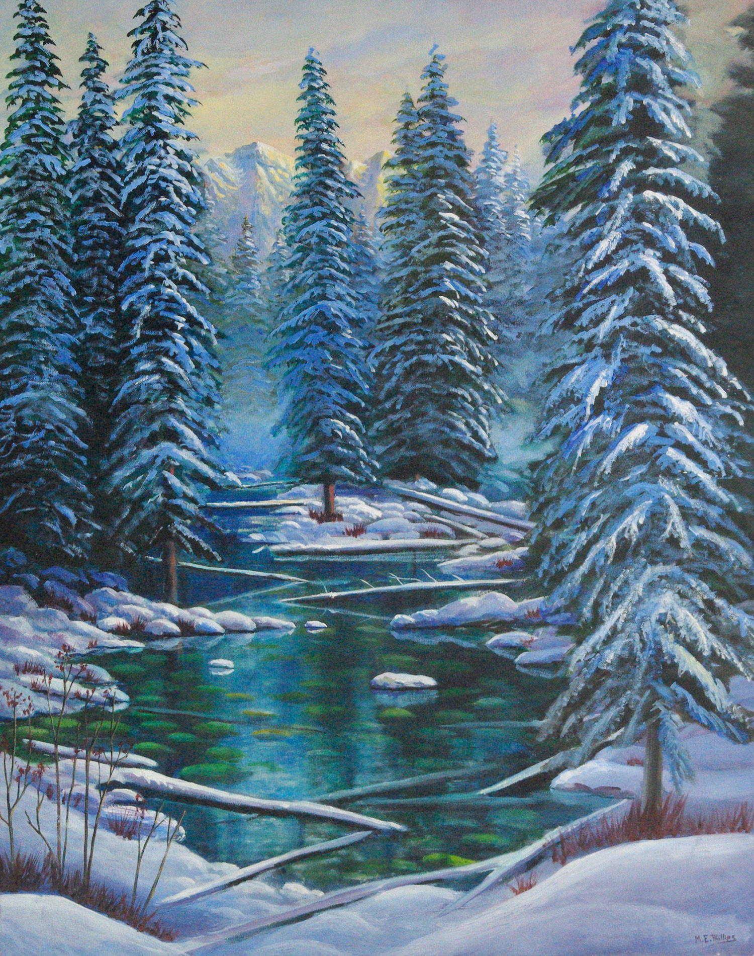 October-Snow_$3850-Framed-Oil-24x30