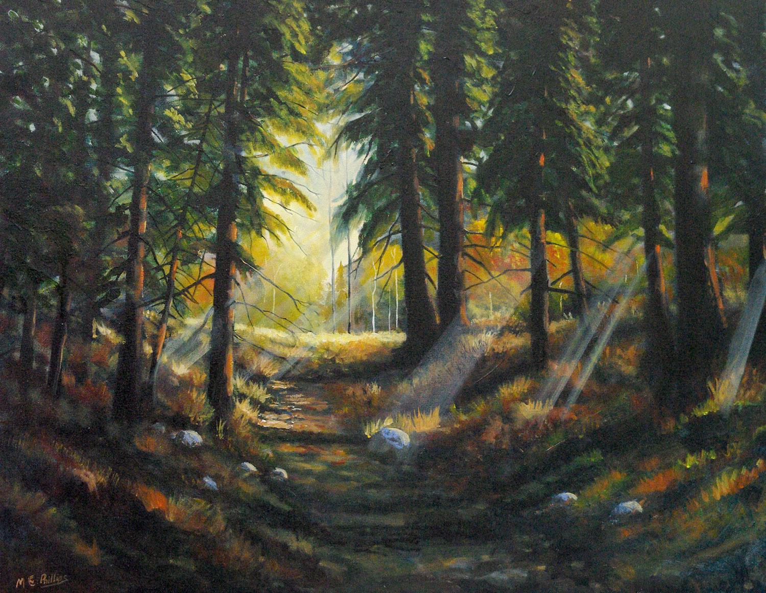 Towards_The_Light_$3600_Framed_Oil_22x28