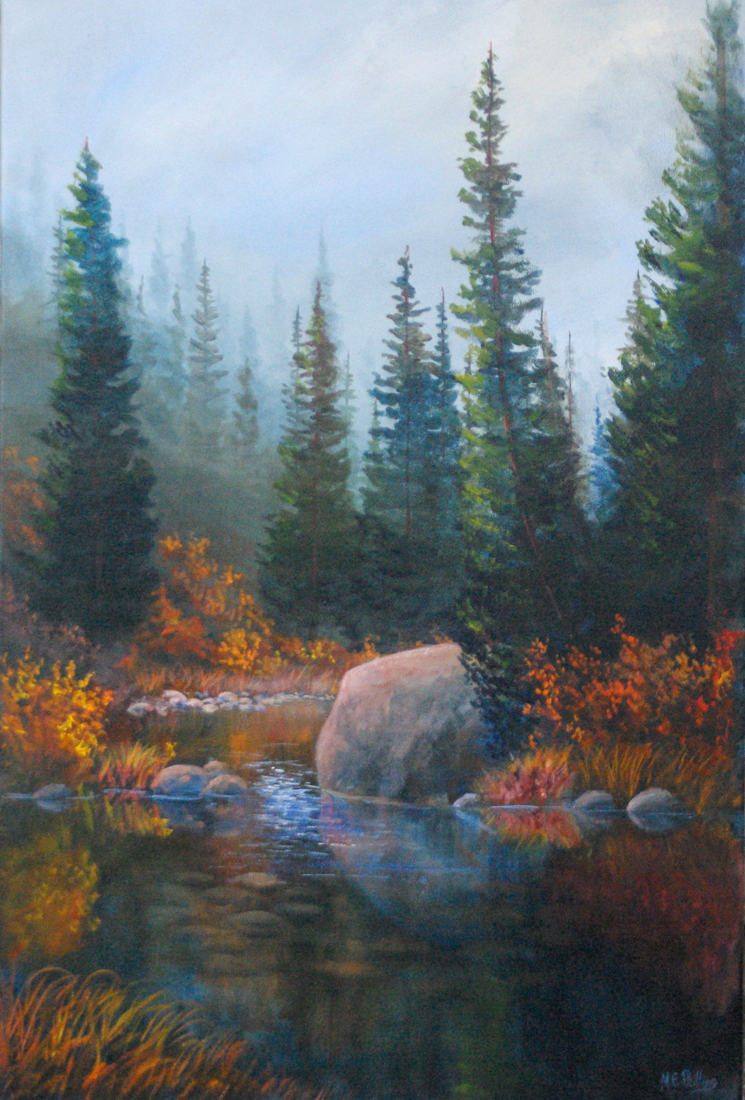 Morning-Stream_$3600_Framed_Oil_20x30